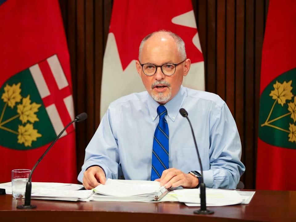 Dr. Kieran Moore, Ontario's chief medical officer of health, released new guidelines on Thanksgiving and Halloween ahead of the long weekend. (Evan Buhler/The Canadian Press - image credit)