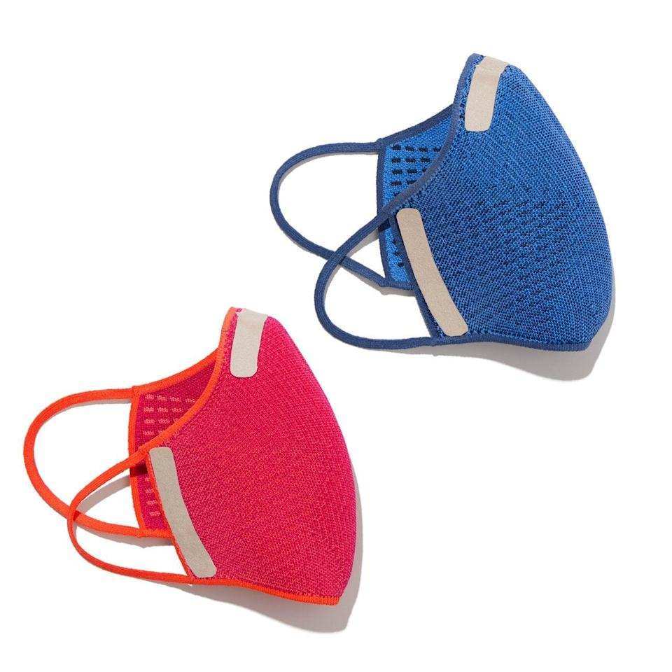 <p>This interior view of the <span>Rothy's Face Masks</span> ($25, set of two) show the microfiber swatches that help to keep the masks in place.</p>