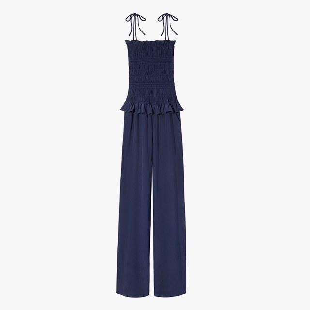 Tory Burch smocked jumpsuit, was $428, now $299, toryburch.com 30% off
