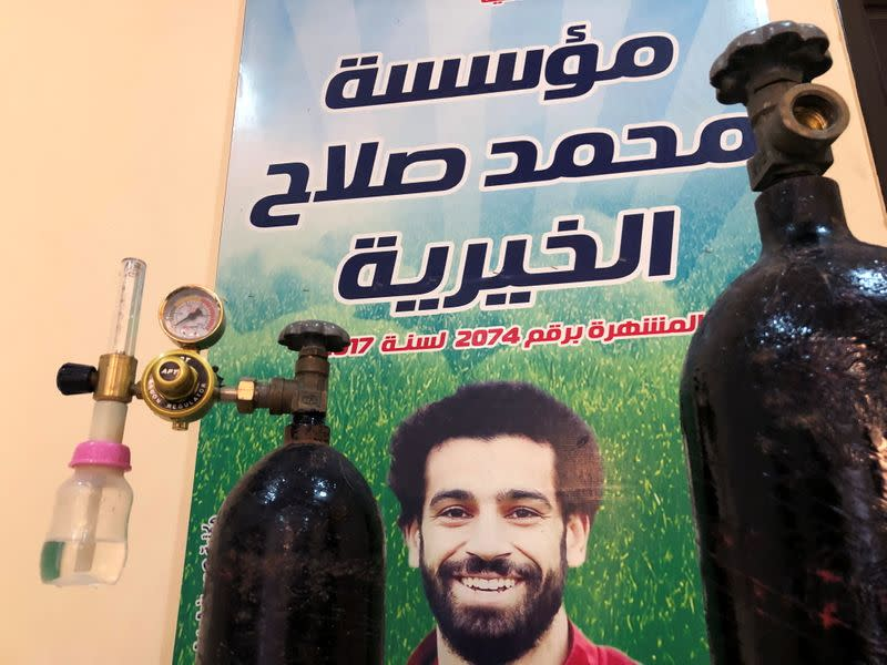 Liverpool striker Salah donates oxygen to support his Egyptian village's COVID fight