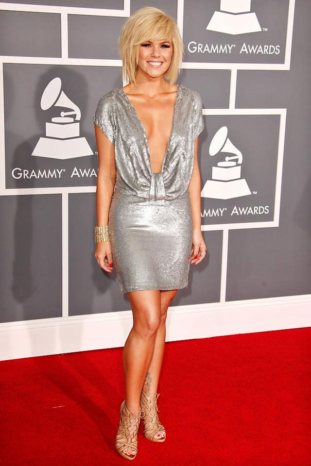 "<a href=""/kimberly-caldwell/contributor/1247717"">Kimberly Caldwell</a> arrives at the 51st Annual Grammy Awards at the Staples Center on February 8, 2009, in Los Angeles."