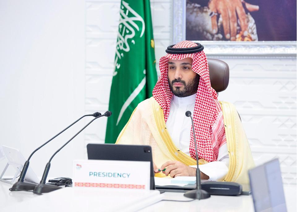 <p>Saudi Arabia's Crown Prince Mohammed bin Salman chaired the final session of the second day of the G20 Riyadh Summit</p> (EPA)