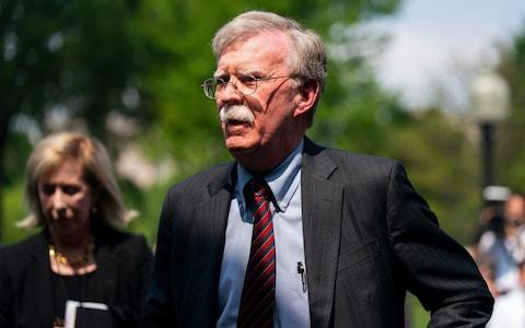 US National Security Advisor John Bolton insists Iran is planning to attack US assets in the Middle East - Credit: JIM LO SCALZO/EPA-EFE/REX