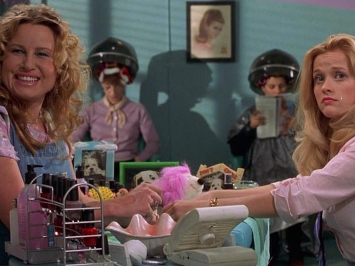 """Jennifer Coolidge and Reese Witherspoon in """"Legally Blonde."""""""
