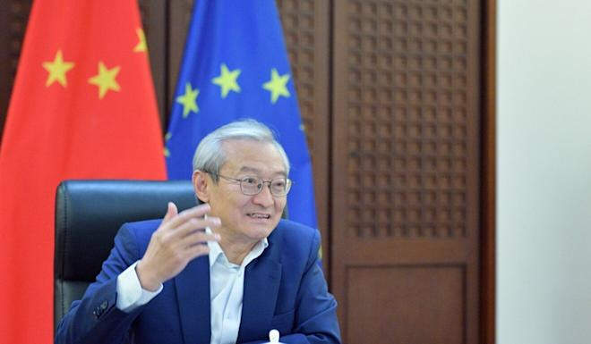 Zhang Ming, Beijing's envoy to the European Union, criticised Brussels' policies towards Chinese companies. Photo: Handout