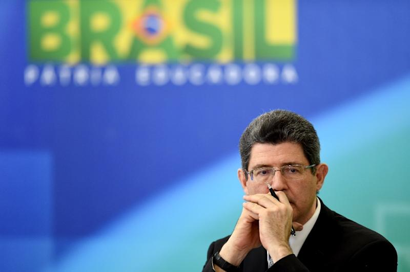 Brazilian Minister of Finance Joaquim Levy looks on during a press conference at the Planalto Palace in Brasilia on September 14, 2015 (AFP Photo/Evaristo Sa)