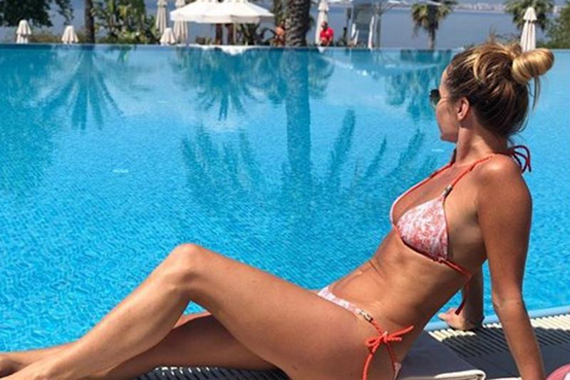 Having a break: Amanda Holden is relaxing ahead of the return of BGT: Instagram/ Amanda Holden