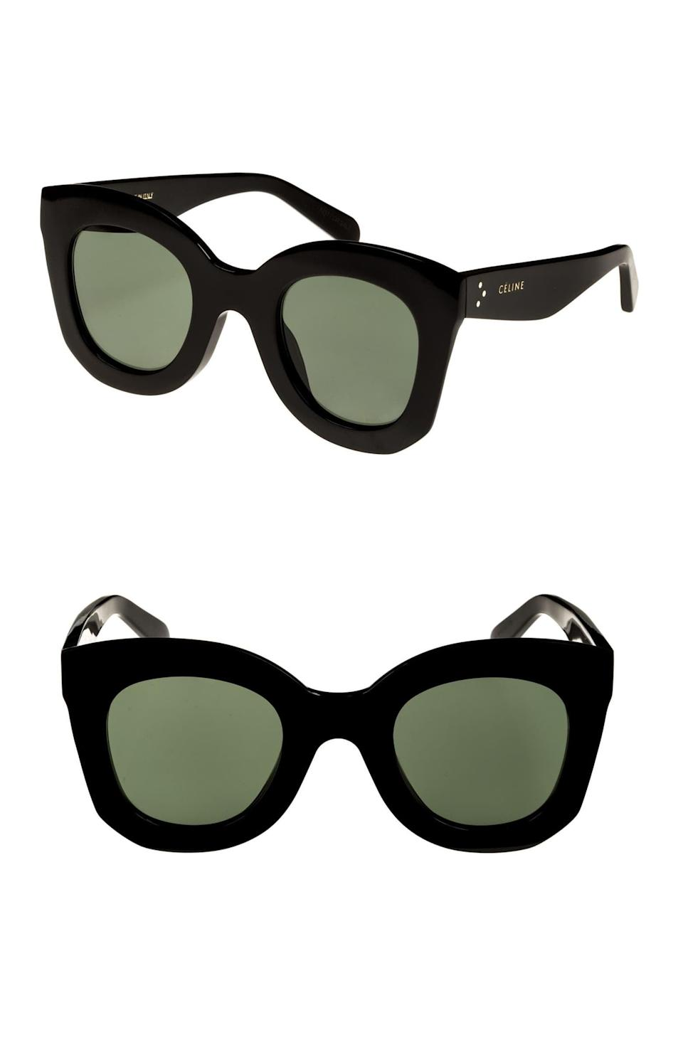 <p>These <span>Celine Special Fit Cat Eye Sunglasses</span> ($400) will be in your collection for years to come.</p>