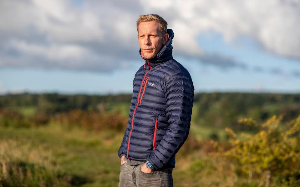 Laurence Fox photographed on The Old Oswestry Hill Fort in Shropshire - Heathcliff O'Malley for The Telegraph