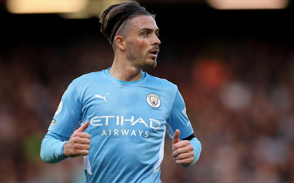 Jack Grealish has assumed Raheem Sterling's position on the left side of City's attack - GETTY IMAGES
