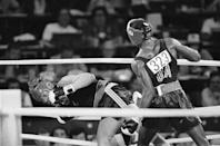"""<p>American light-heavyweight boxer Evander Holyfield was a clear favorite to win gold in 1984. Many questioned the call that led to his defeat by New Zealander Kevin Barry, in which <a href=""""https://bleacherreport.com/articles/221389-25-years-later-evander-holyfield-robbed-of-gold-in-the-1984-olympics"""" rel=""""nofollow noopener"""" target=""""_blank"""" data-ylk=""""slk:the referee disqualified him for making a hit after a break was ordered"""" class=""""link rapid-noclick-resp"""">the referee disqualified him for making a hit after a break was ordered</a>.</p>"""