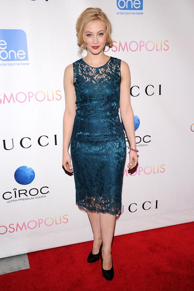 "Sarah Gadon at the New York City premiere of ""Cosmopolis"" on August 13, 2012."
