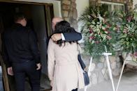 Relatives arrive to attend the funeral of Rhonita Maria Miller and her four children, members of the Mexican-American Mormon community killed by unknown assailants, in La Mora
