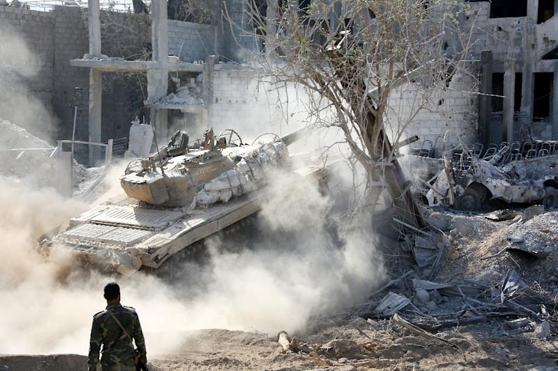 The Syrian conflict has claimed more than 320,000 lives since 2011 (AFP Photo/STRINGER)