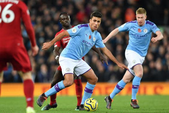 Rodri insists Manchester City can still win the Premier League (AFP via Getty Images)