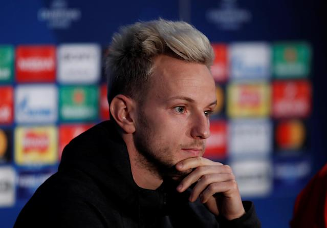 Soccer Football - Champions League - FC Barcelona Press Conference - Stamford Bridge, London, Britain - February 19, 2018 Barcelona's Ivan Rakitic during the press conference Action Images via Reuters/Matthew Childs