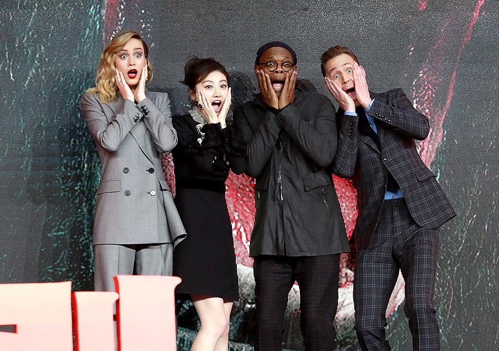 <p>The cast of <i>Kong: Skull Island</i> flashed their best OMG looks at the camera at a press conference in Beijing. If you haven't seen the movie yet, consider it a preview. (Photo: VCG/VCG via Getty Images) </p>