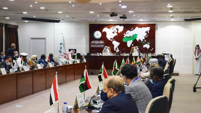 Open-Ended Extraordinary Meeting of the OIC Executive Committee at the Level of Permanent Representatives on the Situation in Afghanistan di Markas OKI Jeddah, 22 Agustus 2021. (Dok: Kemlu RI)
