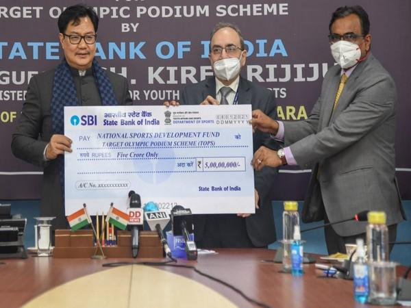 State Bank of India (SBI) has made a contribution of Rs. 5 crores to NSDF on Friday