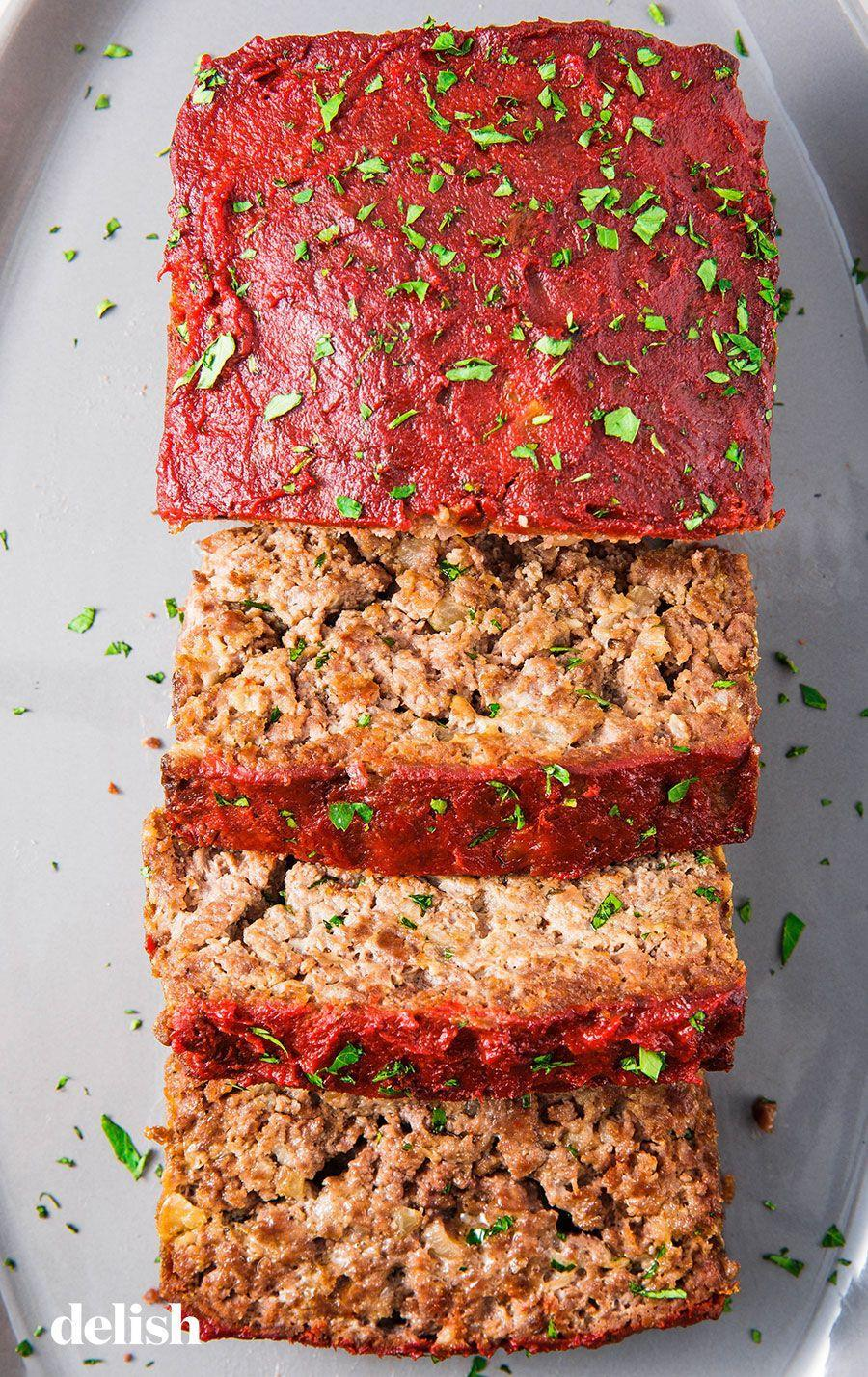 """<p>This healthy meatloaf will carry you through healthy January.</p><p>Get the recipe from <a href=""""https://www.delish.com/cooking/recipe-ideas/a25363131/paleo-meatloaf-recipe/"""" rel=""""nofollow noopener"""" target=""""_blank"""" data-ylk=""""slk:Delish"""" class=""""link rapid-noclick-resp"""">Delish</a>. </p>"""