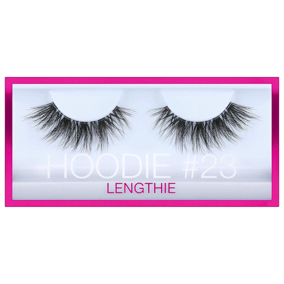<p>These fluffy, long <span>Huda Beauty Hoodie False Lashes</span> ($19) are also vegan so, whenever you're fluttering your lashes, you'll also know your look is cruelty-free.</p>