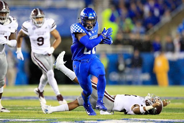Kentucky flattened Mississippi State, but celebrated a bit too much. (Getty)