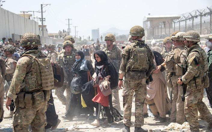 UK Armed Forces personnel have been deployed to Kabul as the evacuation of Afghan and British nationals continues - Crown Copyright