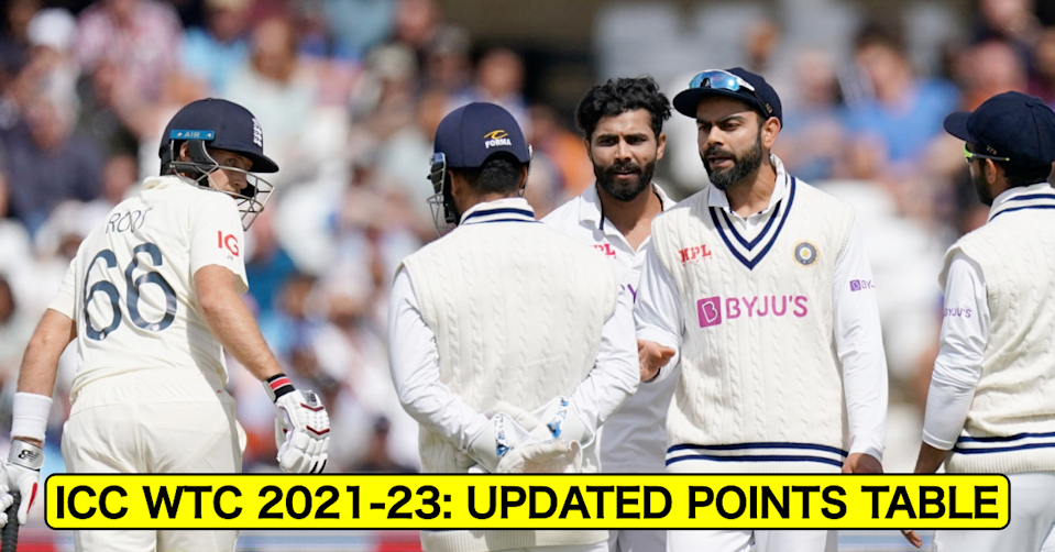 ICC World Test Championship 2021-23: Updated Points Table After 1st Test Between England And India