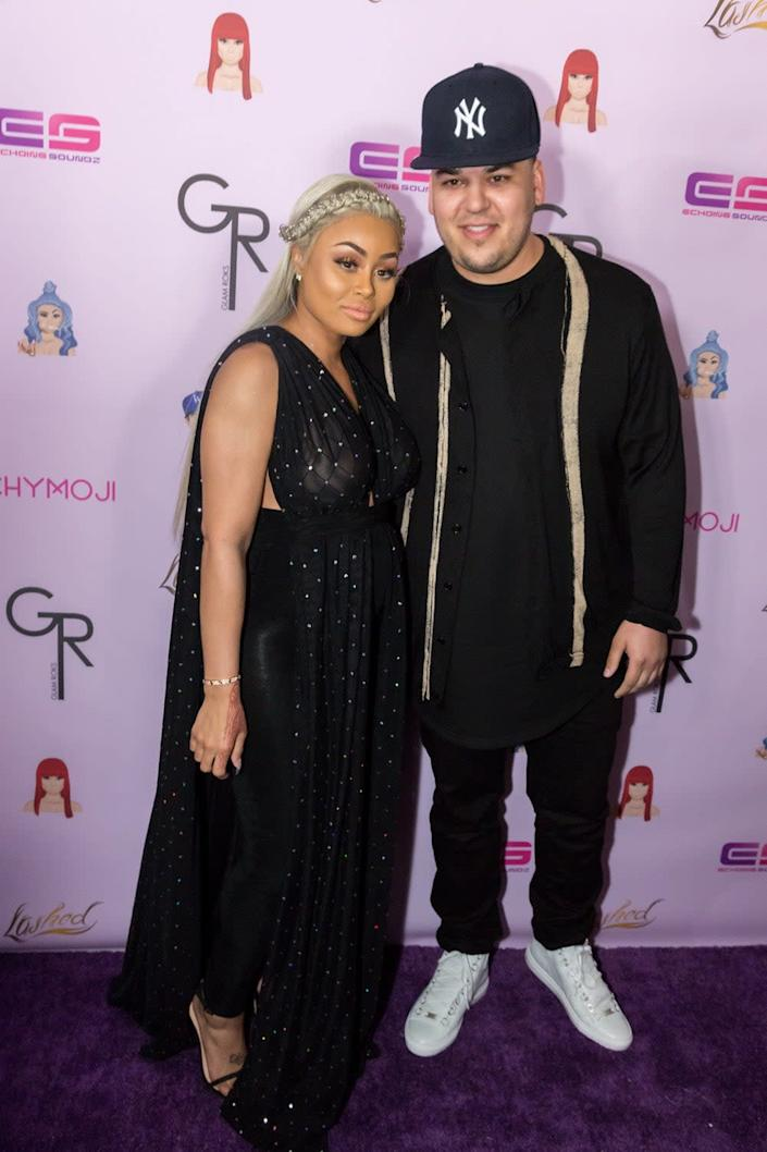 Estranged: Blac Chyna with her ex Rob Kardashian (Greg Doherty/Getty)