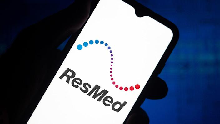 BRAZIL - 2020/06/29: In this photo illustration the ResMed logo seen displayed on a smartphone.