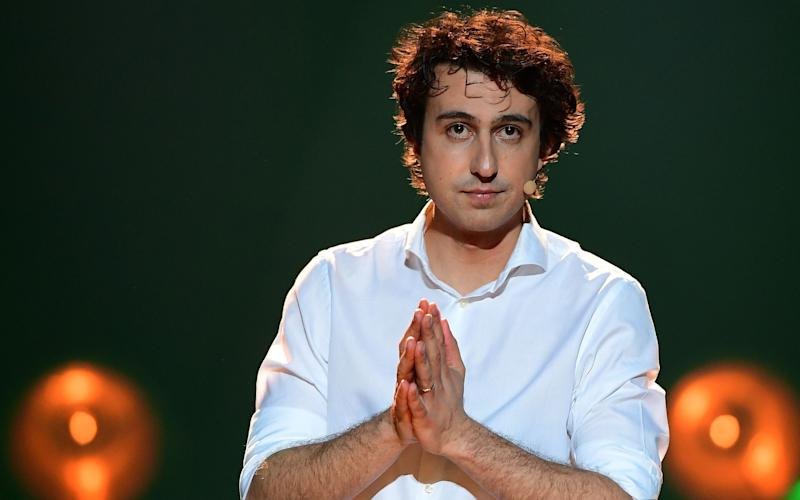 Dutch Green Party (Groen Links) leader Jesse Klaver attends a campaign rally in Amsterdam on March 9, 2017 - EMMANUEL DUNAND