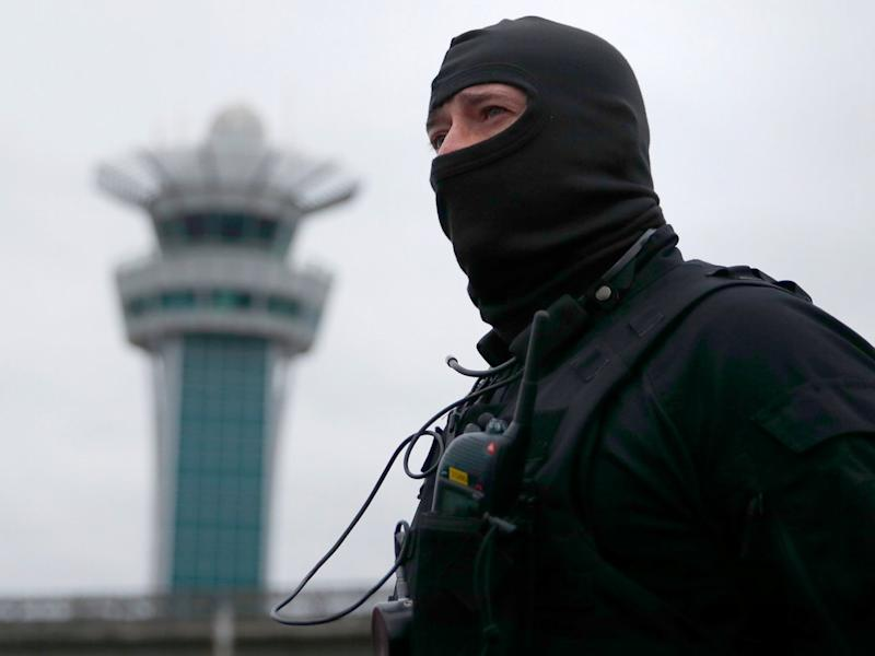 A special forces policeman at Orly airport southern terminal after a shooting incident near Paris, France March 18, 2016.