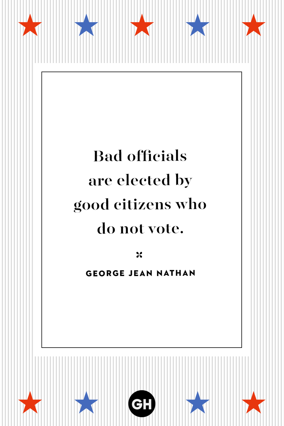 <p>Bad officials are elected by good citizens who do not vote.</p>