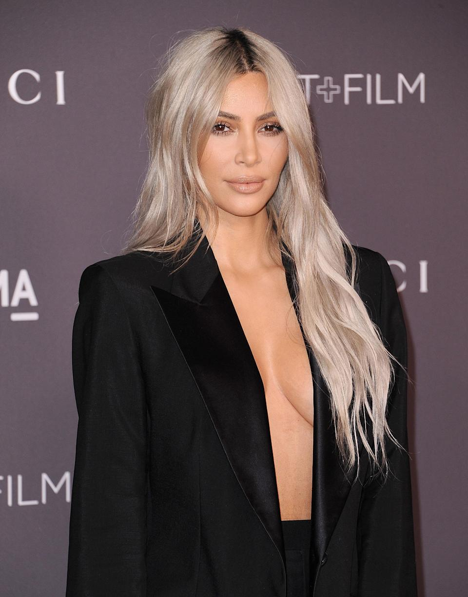 Kim Kardashian attends the 2017 LACMA Art + Film gala at LACMA in Los Angeles last year. (Photo: Getty Images)
