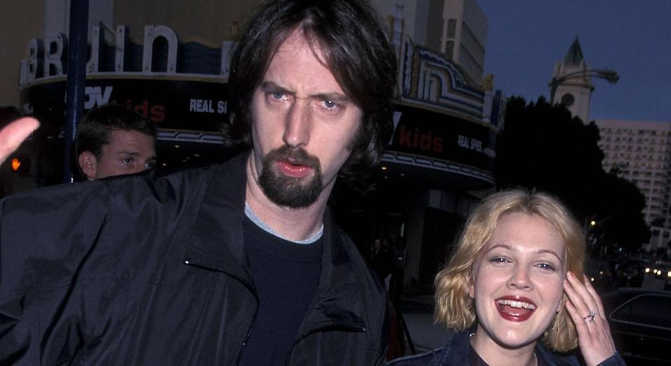 """<p>Barrymore married the MTV talk show host in 2001, but they divorced nine months later. <a href=""""https://www.huffingtonpost.com/entry/tom-green-drew-barrymore-marriage_n_5622019"""" rel=""""nofollow noopener"""" target=""""_blank"""" data-ylk=""""slk:Reflecting"""" class=""""link rapid-noclick-resp"""">Reflecting</a> on the relationship on 'Oprah: Where are they now?', Green called it a """"whirlwind"""". """"It was just a very short period of time that I had a brief marriage,"""" Green says in the above video. """"I don't really tend to talk about it that much comfortably [or] publicly. All of that was part of that sort of crazy, whirlwind of a time,"""" he said. <em>[Photo: Getty]</em> </p>"""
