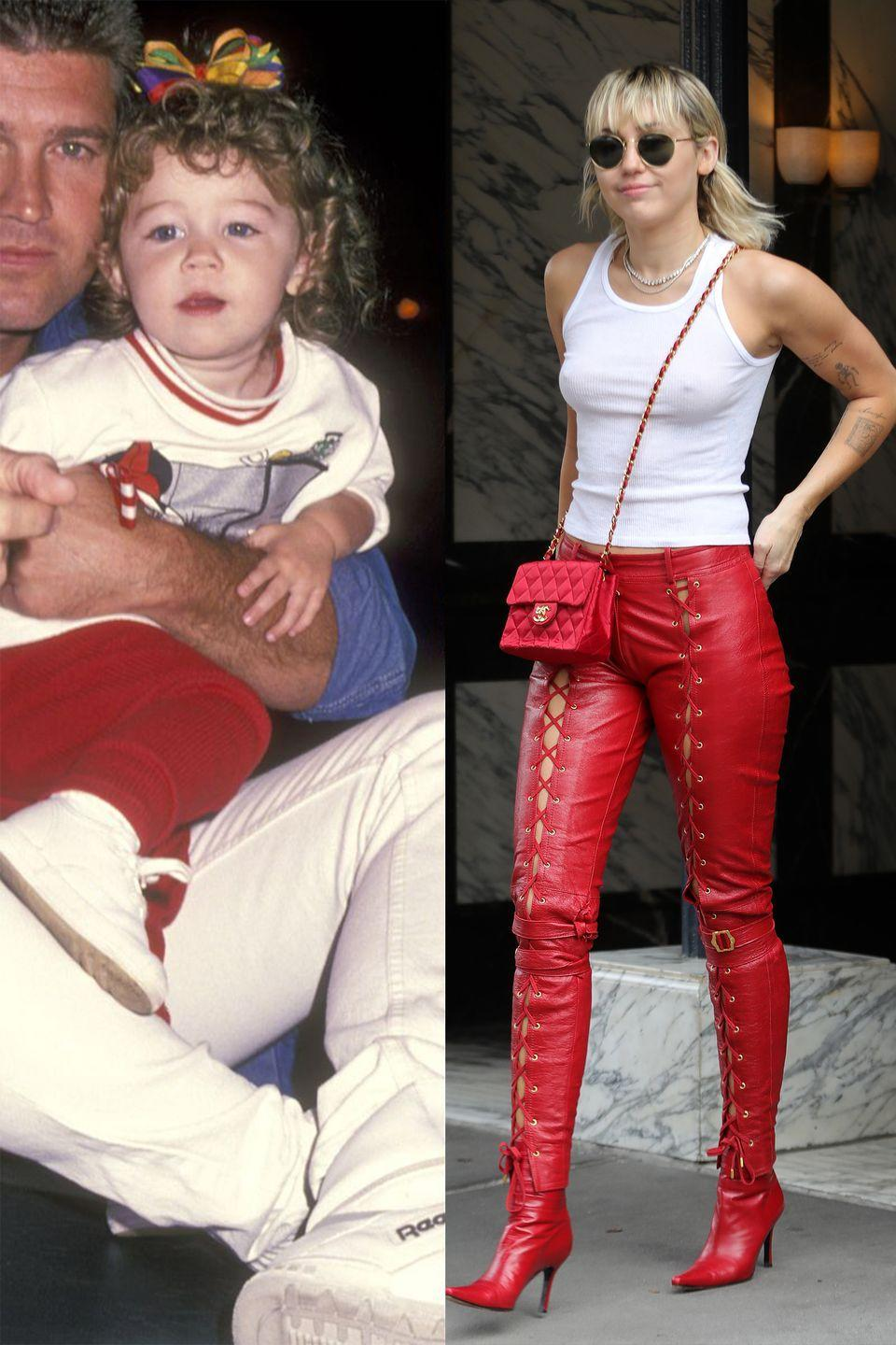 <p>Color and a bold statement has clearly always been Miley's thing.</p>