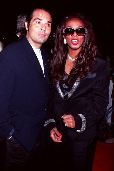"Donna Summer and her husband at ""A Midsummer Night's Party to Benefit 'Musi Cares'"" in 1995."