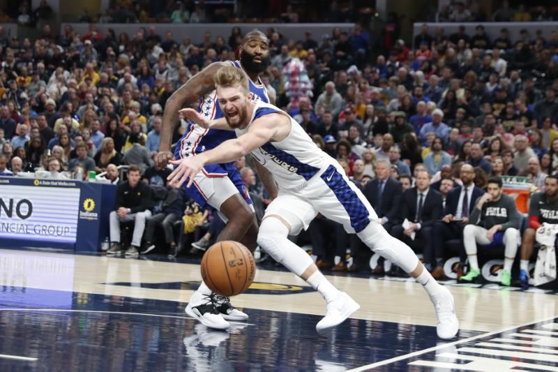 Pacers hand Embiid-less 76ers third straight loss