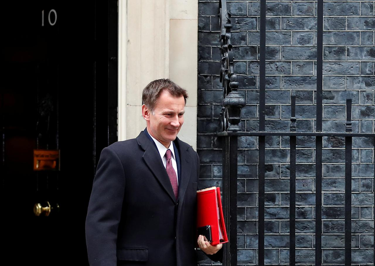 <p>Jeremy Hunt has warned that a no-deal Brexit could mean the UK tipping into recession. However, he has also joined forces with Brexiteers and been openly critical of joining a Customs Union without the ability to exit. (Reuters) </p>