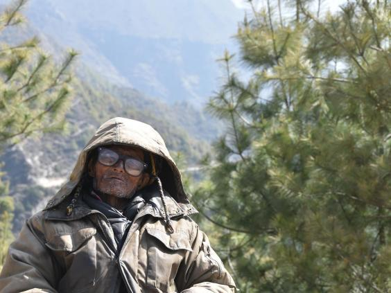 One of the Sherpas who collects money for clearing the trail (James Draven)