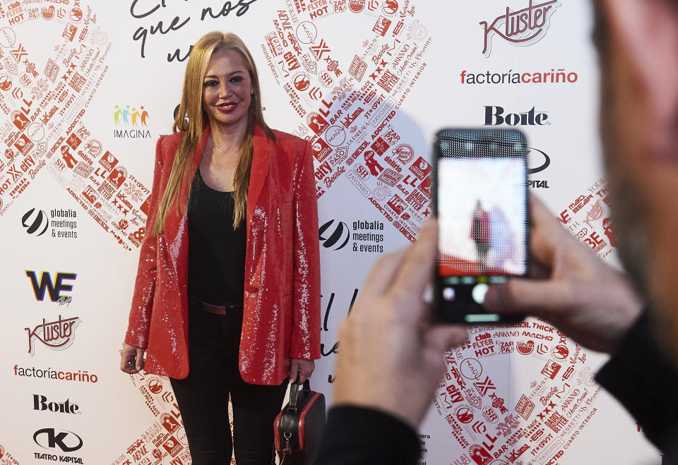 MADRID, SPAIN - DECEMBER 01: Belen Esteban attends photocall of 'El Lazo Que Nos Une' on December 01, 2019 in Madrid, Spain. (Photo by Borja B. Hojas/Getty Images)