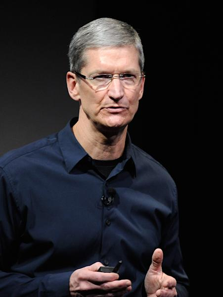 Apple CEO Tim Cook, pictured at the company's headquarters in Cupertino, California, on October 4, 2011 (AFP Photo/Kevork Djansezian)