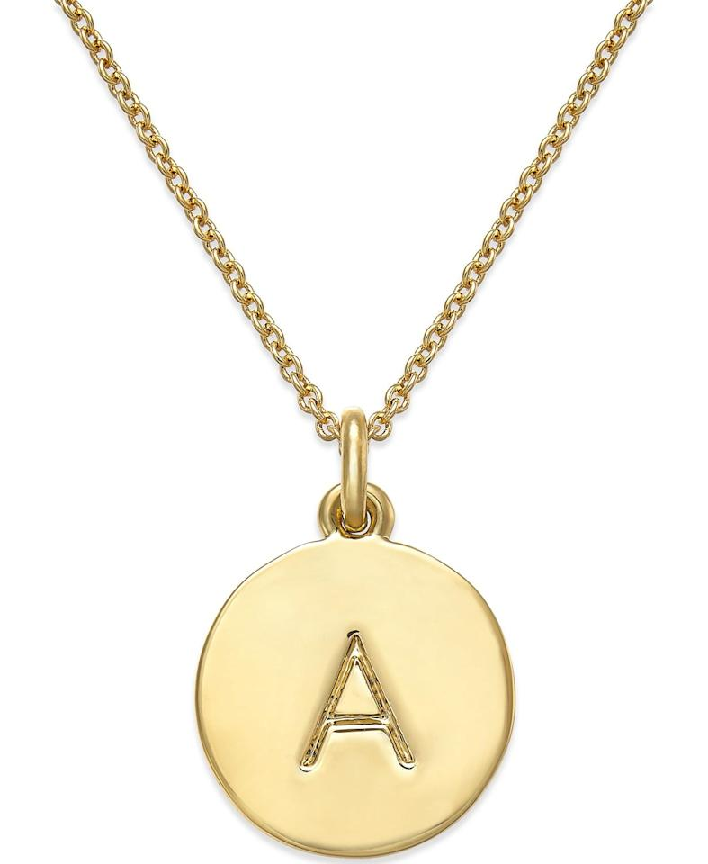 "<p>This <a href=""https://www.popsugar.com/buy/Kate-Spade-New-York-12k-Gold-Plated-Initials-Pendant-Necklace-493002?p_name=Kate%20Spade%20New%20York%20%2012k%20Gold-Plated%20Initials%20Pendant%20Necklace&retailer=macys.com&pid=493002&price=58&evar1=fab%3Aus&evar9=46653352&evar98=https%3A%2F%2Fwww.popsugar.com%2Ffashion%2Fphoto-gallery%2F46653352%2Fimage%2F46653444%2FKate-Spade-New-York-12k-Gold-Plated-Initials-Pendant-Necklace&list1=shopping%2Cjewelry%2Caccessories%2Cnecklaces&prop13=api&pdata=1"" rel=""nofollow"" data-shoppable-link=""1"" target=""_blank"" class=""ga-track"" data-ga-category=""Related"" data-ga-label=""https://www.macys.com/shop/product/kate-spade-new-york-12k-gold-plated-initials-pendant-necklace-17-3-extender?ID=2231839&amp;CategoryID=55285#fn=sp%3D1%26spc%3D36%26ruleId%3D78%26kws%3Dinitial%20necklace%26ackws%3Dini%26searchType%3Dac%26searchPass%3DexactMultiMatch%26slotId%3D4"" data-ga-action=""In-Line Links"">Kate Spade New York  12k Gold-Plated Initials Pendant Necklace</a> ($58) is a customer favorite.</p>"