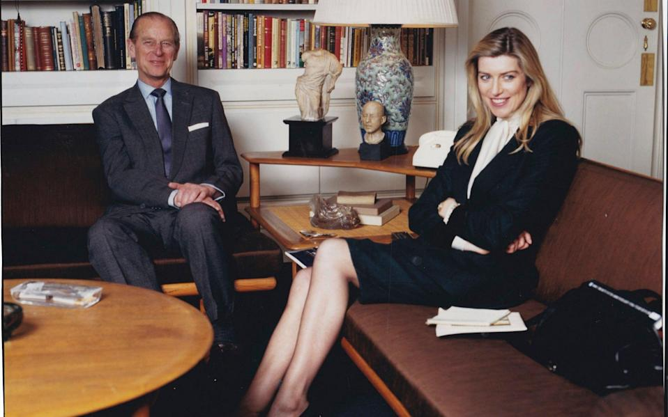 Selina Scott interviewed Prince Philip for a documentary about Edward Seago