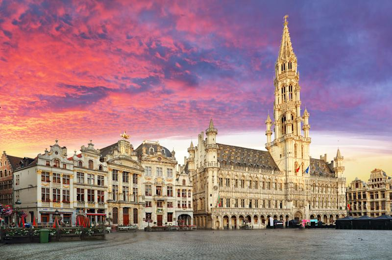 Take in the sights of the Grand Place in Brussels. [Photo: Getty]