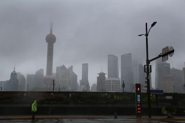 The skyline in Shanghai, China (Chen Si/AP)