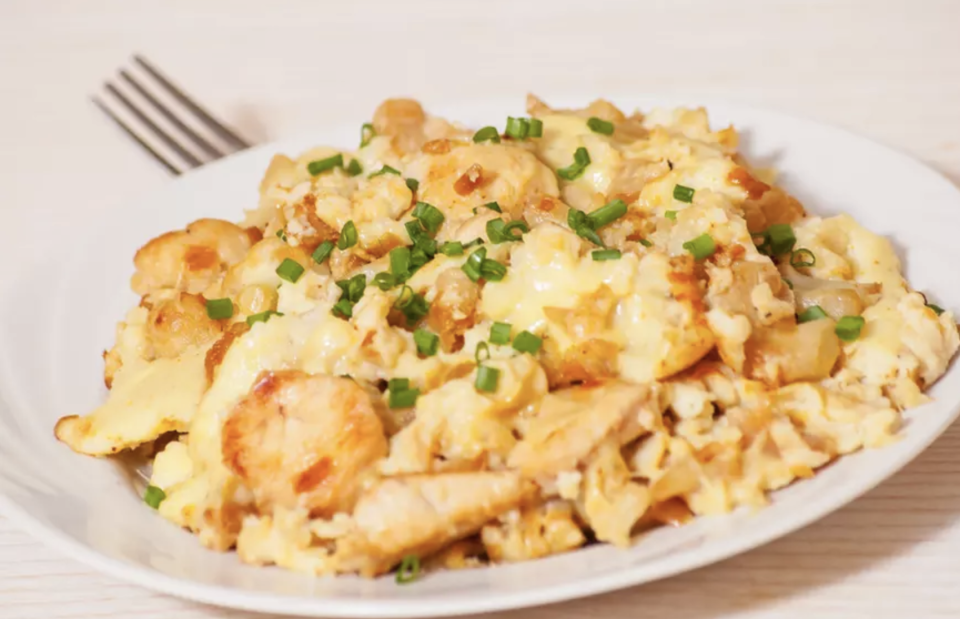 """<p>One of <a href=""""https://www.thedailymeal.com/cook/insanely-easy-instant-pot-breakfast-recipes-slideshow?referrer=yahoo&category=beauty_food&include_utm=1&utm_medium=referral&utm_source=yahoo&utm_campaign=feed"""" rel=""""nofollow noopener"""" target=""""_blank"""" data-ylk=""""slk:the best Instant Pot breakfast recipes"""" class=""""link rapid-noclick-resp"""">the best Instant Pot breakfast recipes</a>, this egg bake with cheddar cheese, hash browns and crispy bacon means you'll never go back to stovetop scrambled eggs again. </p> <p><a href=""""https://www.thedailymeal.com/best-recipes/instant-pot-cheesy-egg-bake-breakfast?referrer=yahoo&category=beauty_food&include_utm=1&utm_medium=referral&utm_source=yahoo&utm_campaign=feed"""" rel=""""nofollow noopener"""" target=""""_blank"""" data-ylk=""""slk:For the Instant Pot Cheesy Egg Bake recipe, click here."""" class=""""link rapid-noclick-resp"""">For the Instant Pot Cheesy Egg Bake recipe, click here.</a></p>"""