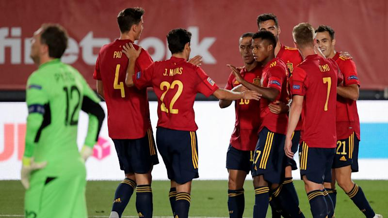Fati becomes Spain's youngest goalscorer in Nations League clash with Ukraine