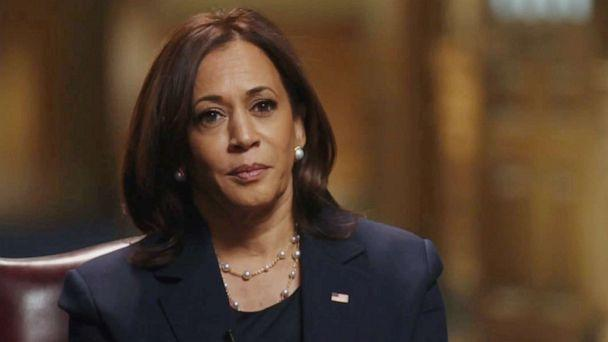PHOTO: Vice President-elect Kamala Harris speaks with ABC News' Robin Roberts on Dec. 15, 2020. (ABC News)