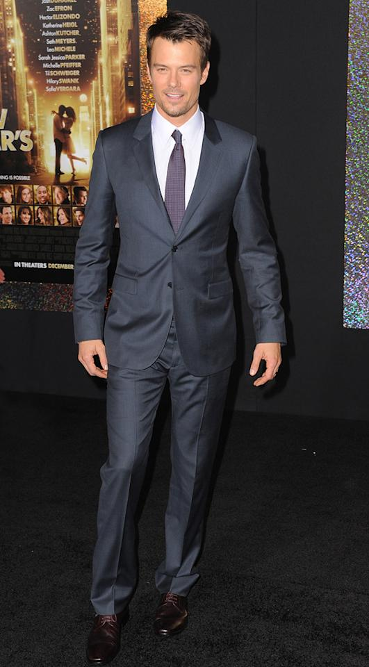 """<a href=""""http://movies.yahoo.com/movie/contributor/1804581818"""">Josh Duhamel</a> at the Los Angeles premiere of <a href=""""http://movies.yahoo.com/movie/1810219047/info"""">New Year's Eve</a> on December 5, 2011."""